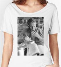 Steve McQueen eats a donut Women's Relaxed Fit T-Shirt