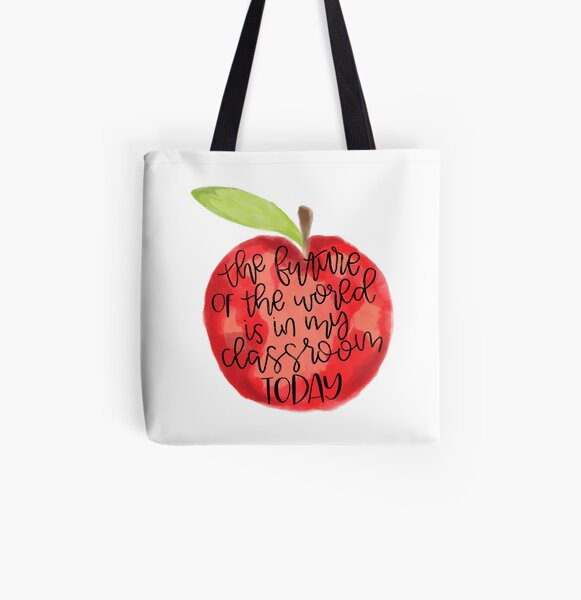 Teacher Quote All Over Print Tote Bag