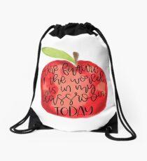 Teacher Quote Drawstring Bag
