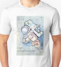 In space, no one can hear you steam... Unisex T-Shirt