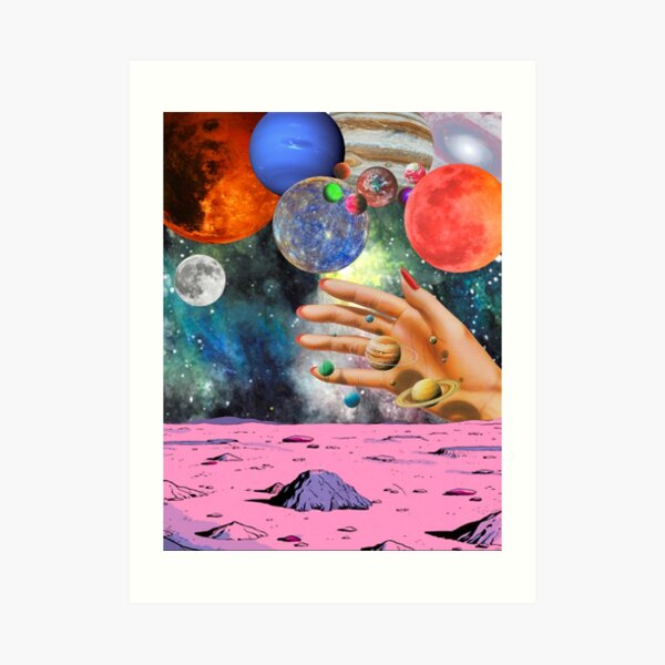 Psychedelic space. Art Print