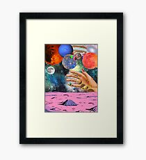 Psychedelic space. Framed Print