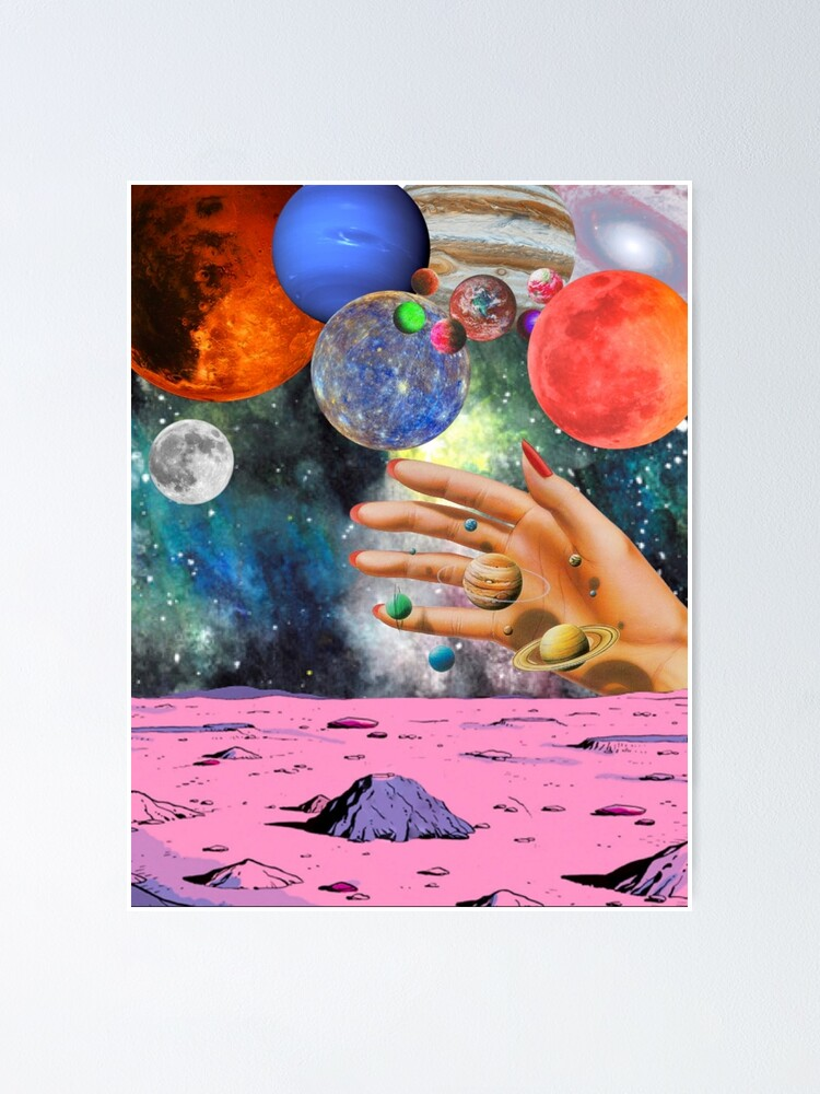 Alternate view of Psychedelic space. Poster