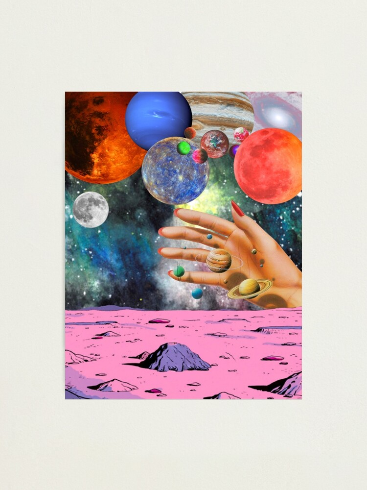 Alternate view of Psychedelic space. Photographic Print