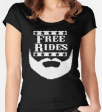 Free Rides Beard Women's Fitted Scoop T-Shirt