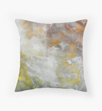 Copper Golden mottled Throw Pillow