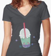 Treat Days! Bubble Boba Women's Fitted V-Neck T-Shirt