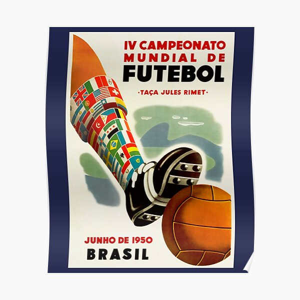 World Cup of 1950 in Brazil Poster