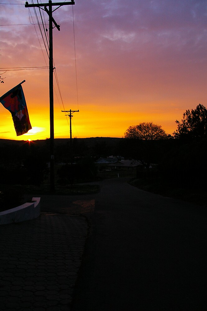 Sunset Flag by Chris Popa