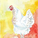 Snoodles lays her first egg! by Maree Clarkson
