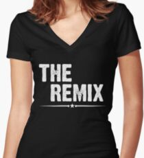 The Remix Shirt Women's Fitted V-Neck T-Shirt