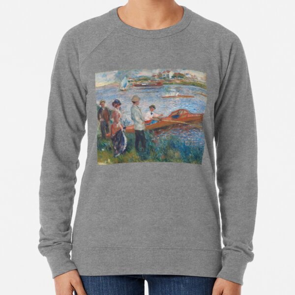 Oarsmen at Chatou Painting by Auguste Renoir Lightweight Sweatshirt