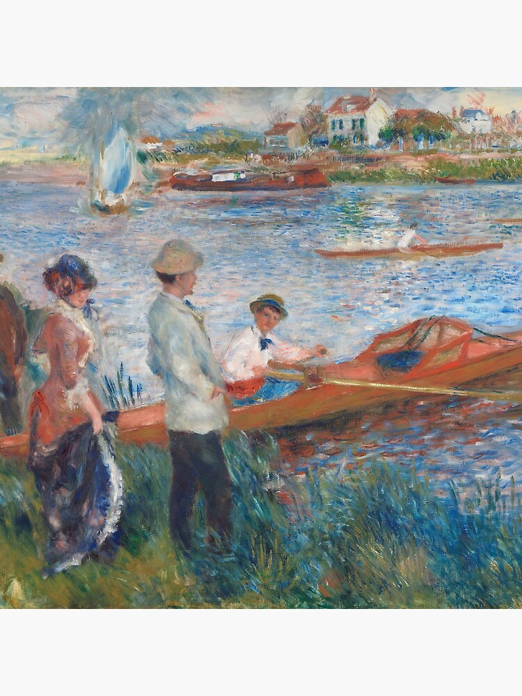 Oarsmen at Chatou Painting by Auguste Renoir by podartist