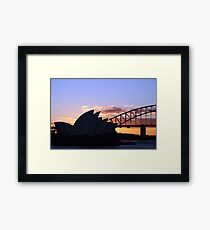 Sunset icons Framed Print
