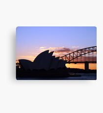 Sunset icons Canvas Print