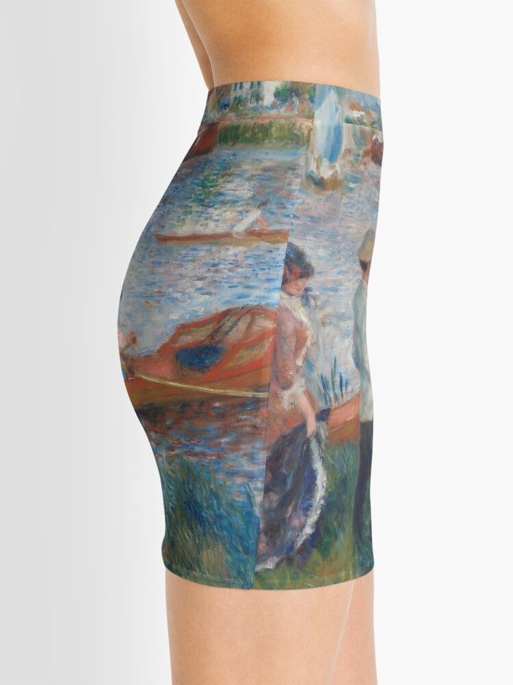 Alternate view of Oarsmen at Chatou Painting by Auguste Renoir Mini Skirt