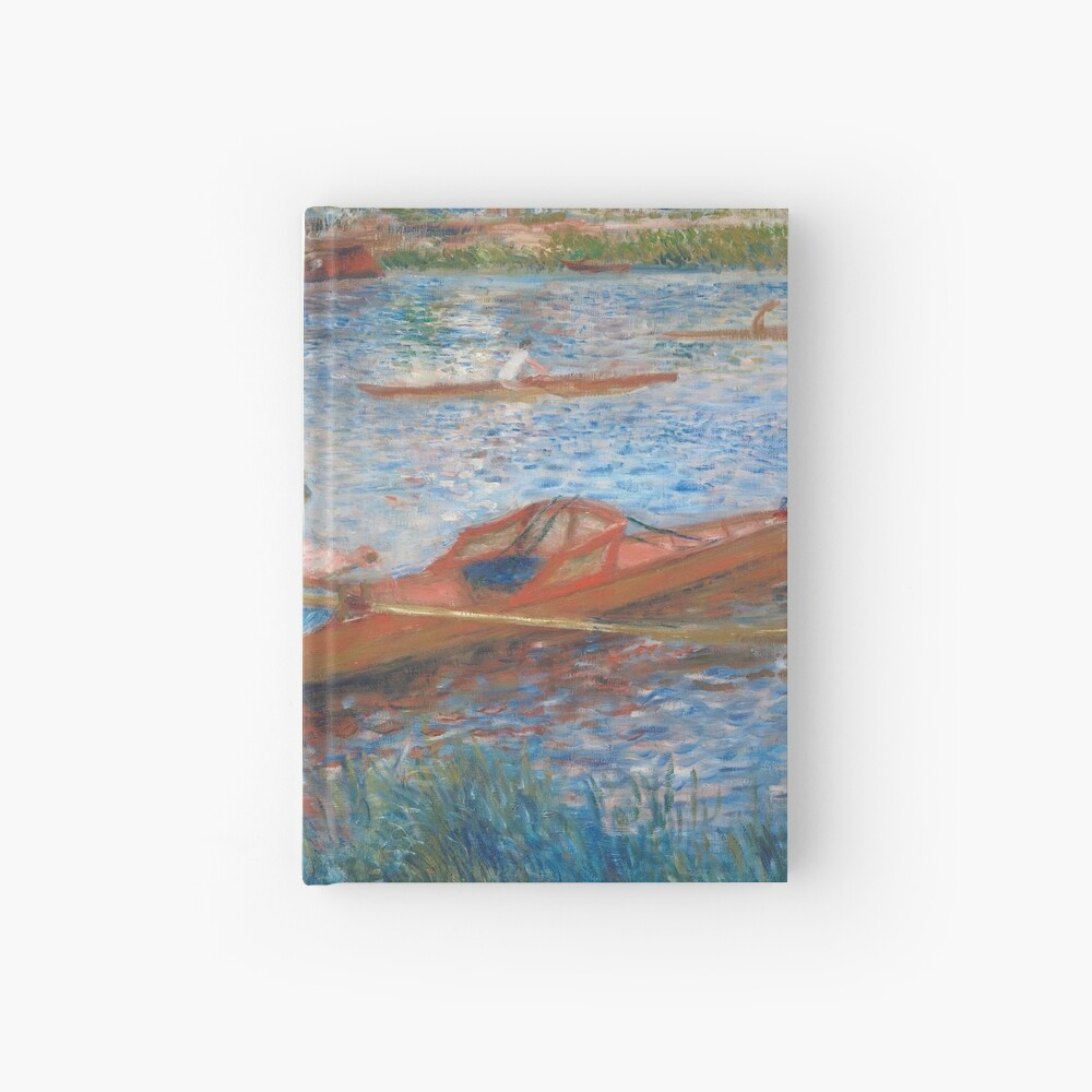 Oarsmen at Chatou Painting by Auguste Renoir Hardcover Journal