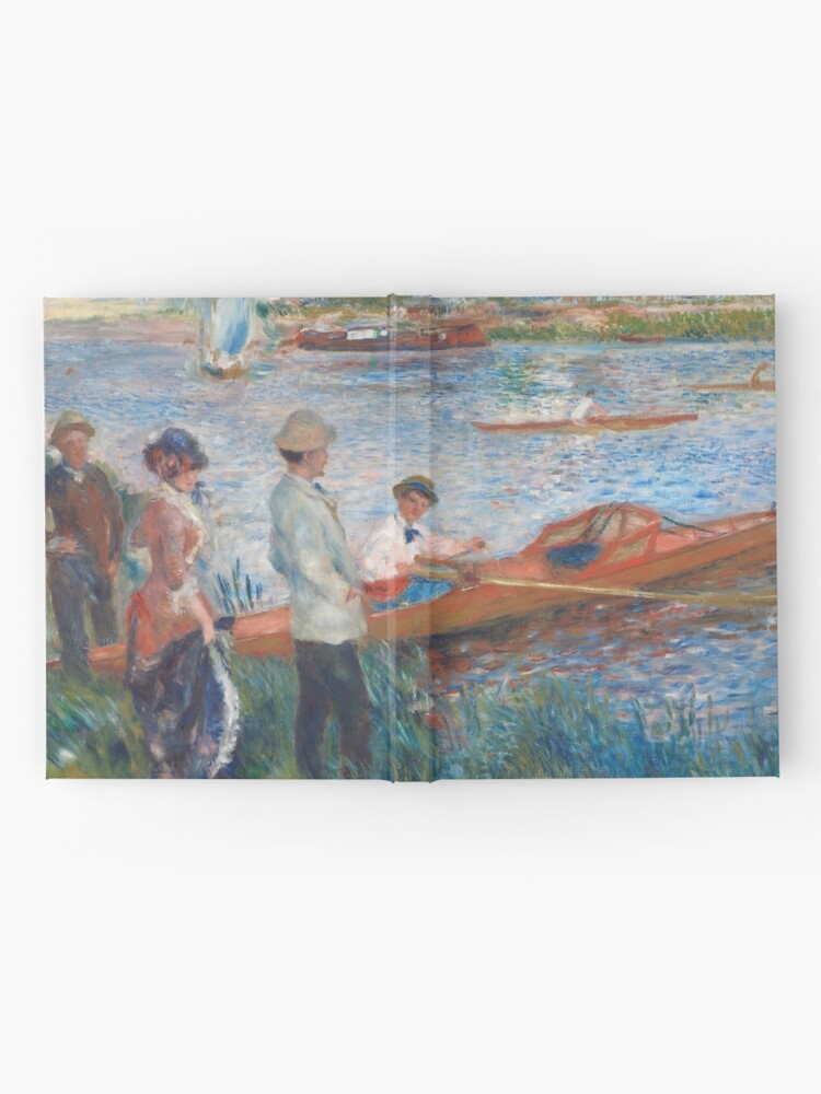 Alternate view of Oarsmen at Chatou Painting by Auguste Renoir Hardcover Journal