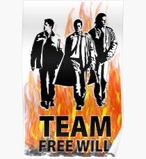 team free will supernatural Poster