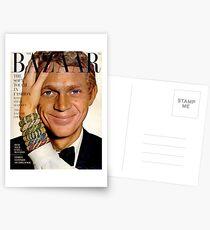 Steve McQueen Bazaar Cover  Postcards