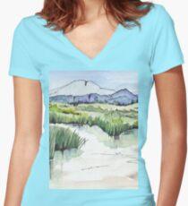 Wetland in Tarlton, Gauteng, South Africa Women's Fitted V-Neck T-Shirt