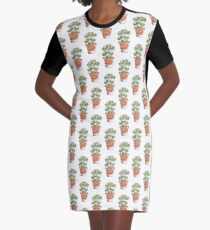Herbs in pots - Parsley  Graphic T-Shirt Dress