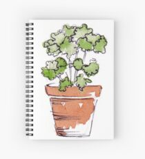 Herbs in pots - Parsley  Spiral Notebook