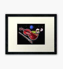 Violin Space Frog Music Framed Print