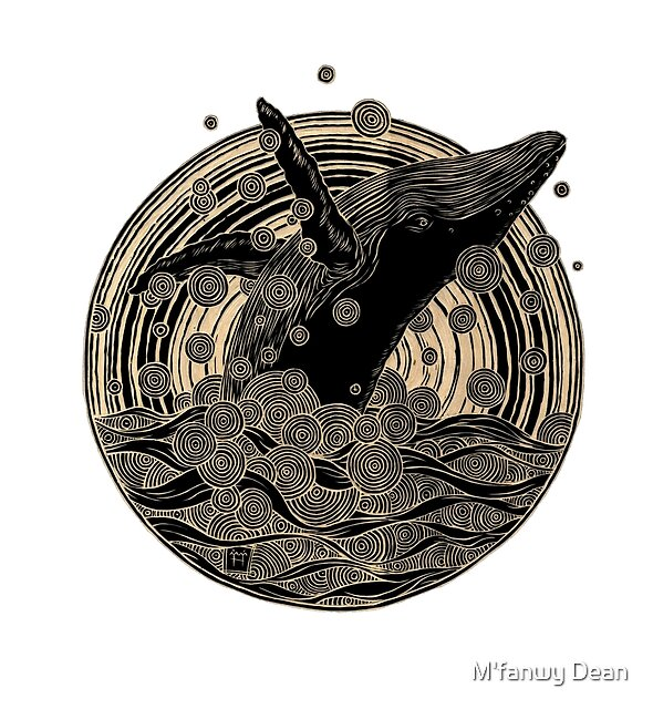 Breaching Whale by M'fanwy Dean