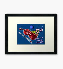 Space Frog Violin Music Astronaut Framed Print