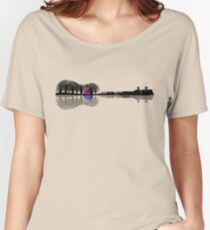 Music instrument tree silhouette ukulele guitar shape Women's Relaxed Fit T-Shirt