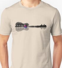 Music instrument tree silhouette ukulele guitar shape Unisex T-Shirt