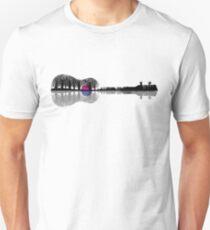 Music instrument tree silhouette ukulele guitar shape Unisex T-Shirt