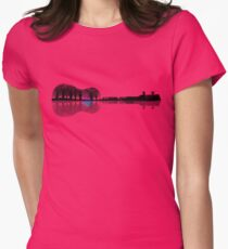 Music instrument tree silhouette ukulele guitar shape T-Shirt