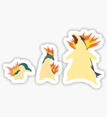 Cyndaquil Evolution Sticker