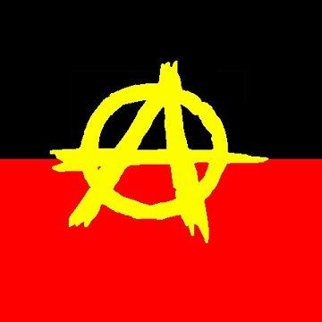 Aboriginal Anarchy Flag by ArchieMoore