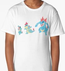 Totodile Evolution Long T-Shirt