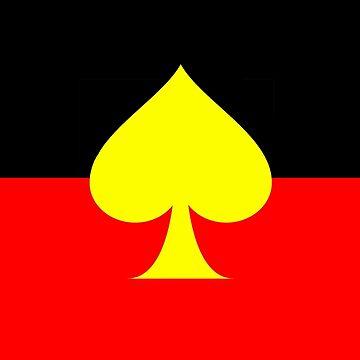 Aboriginal Spade Flag by ArchieMoore