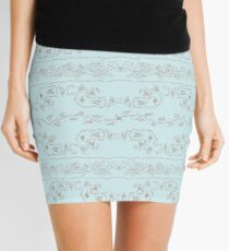 Ribbons and Roses One Blue Mini Skirt
