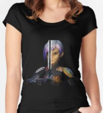 sabine wren darksaber Women's Fitted Scoop T-Shirt