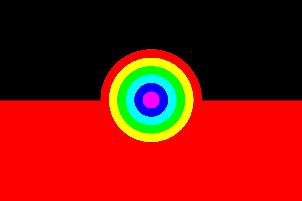 Aboriginal Rainbow Flag by ArchieMoore