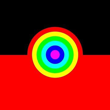 Aboriginal Rainbow Flag by ArchieMoore