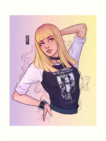 Lisa Boombayah Blackpink Art Prints By Roogomesart Redbubble