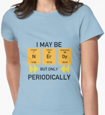 N Er Dy (Nerdy Science) Womens Fitted T-Shirt