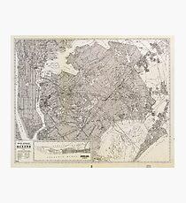 Metropolitan Map of Queens, New York (1922) Photographic Print