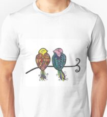 Two Colourful Birds Unisex T-Shirt