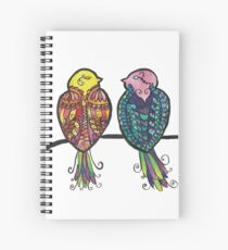 Two Colourful Birds Spiral Notebook