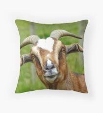 Nanny Reporting For Duty! - Goat - NZ Throw Pillow