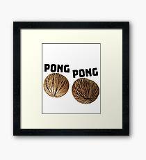 Pong Pong Seeds Design Framed Print
