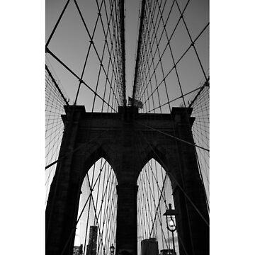 Black & White Brooklyn Bridge by TheIntrepidSoul